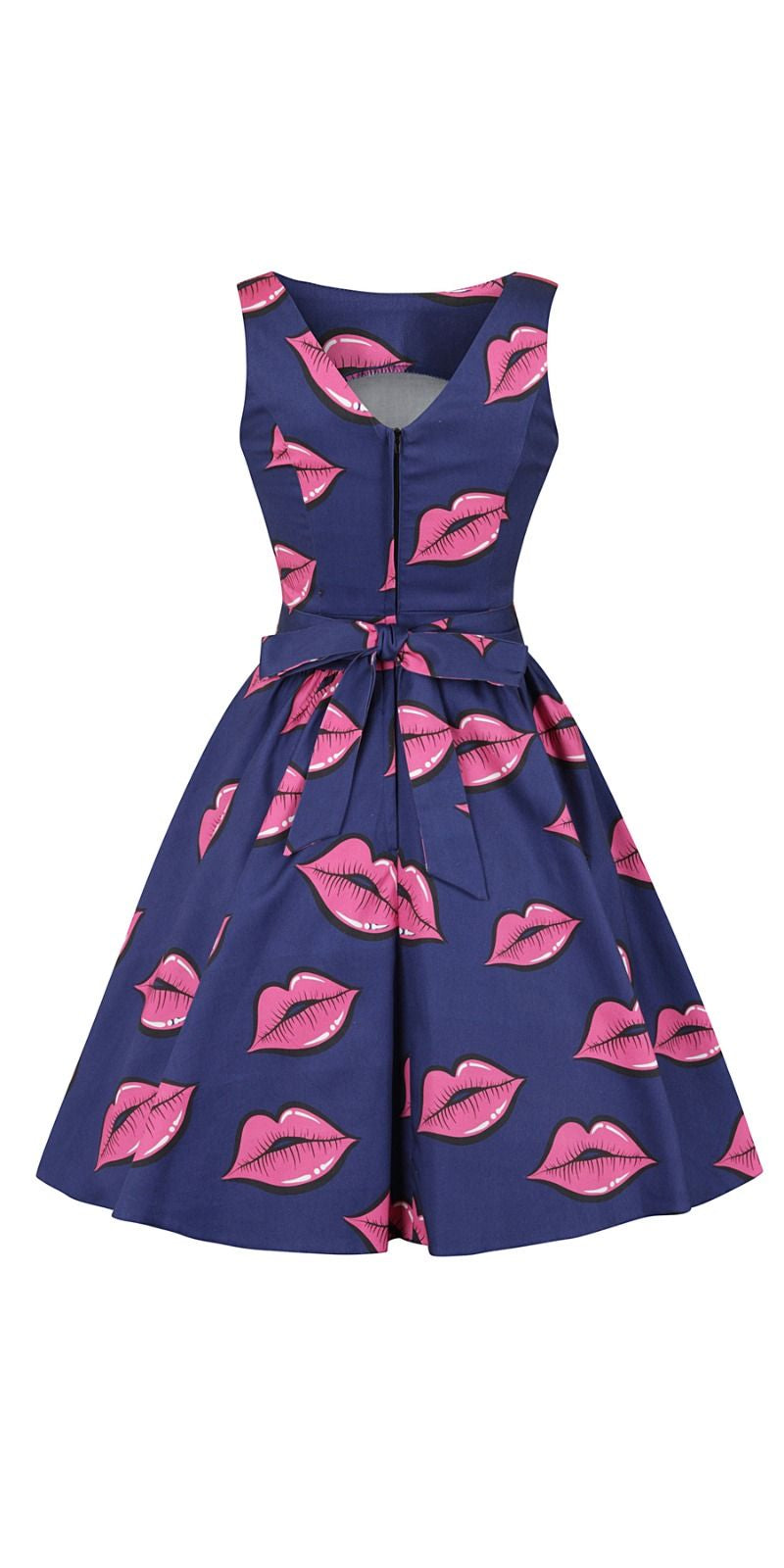 Navy Lips Tea Dress