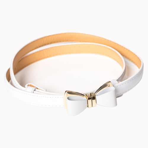Ocean Avenue Patent Belt - White