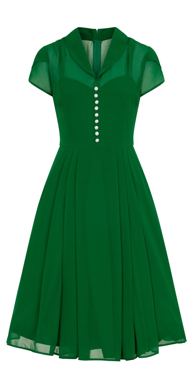 Paige Chiffon Dress - Green