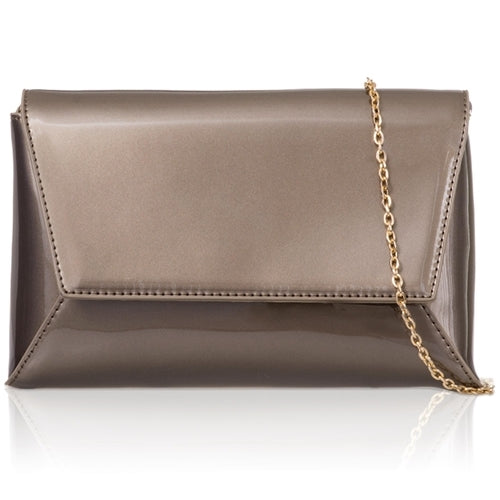 Geometric Patent Clutch - Pewter