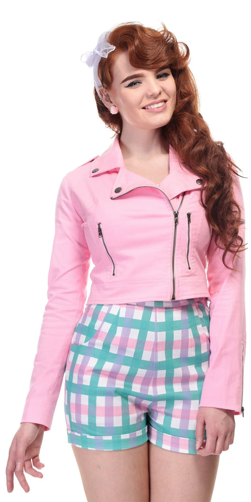 Outlaw Plain Pink Biker Jacket