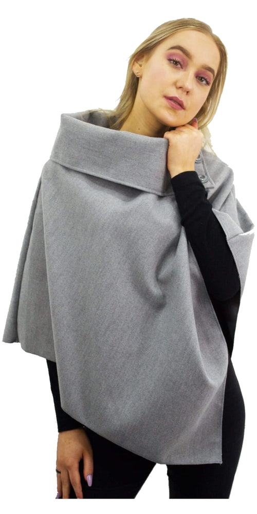 Poncho - Light Grey