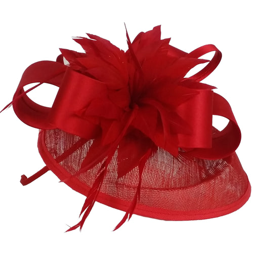 Red Fascinator - Large