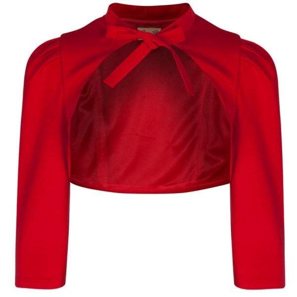 Vintage Inspired Red Tie Bolero