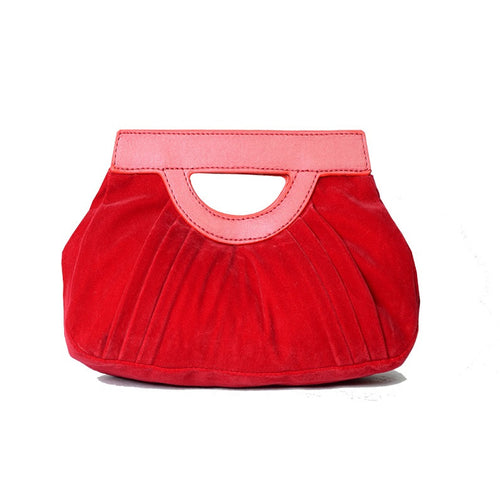 Red Velvet Clutch Bag