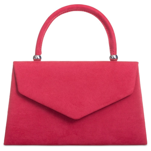 Vintage Purse - Red Suede