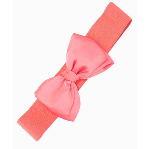 Bella Bow Belt - Coral