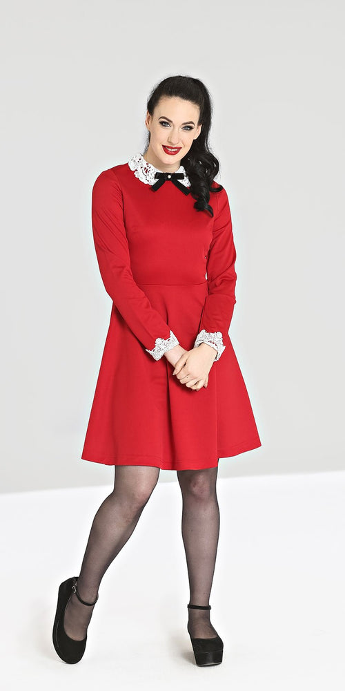 Ricci Long Sleeve Dress - Red