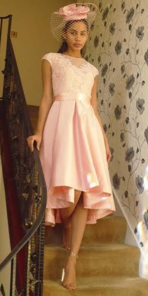 Rosaleen Pink Formal Dip Back Dress