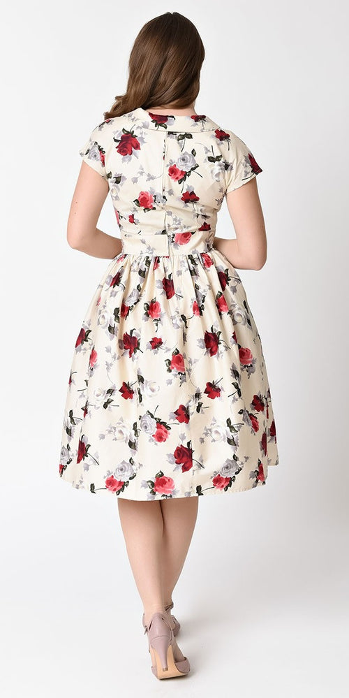 Rosemary Floral 1940's/1950's Style Summer Dress