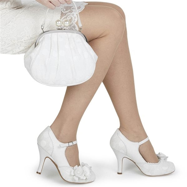 Ruby Shoo Antonia (White/Silver)