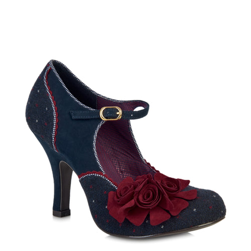 Ruby Shoo Ashley (Navy/Red)