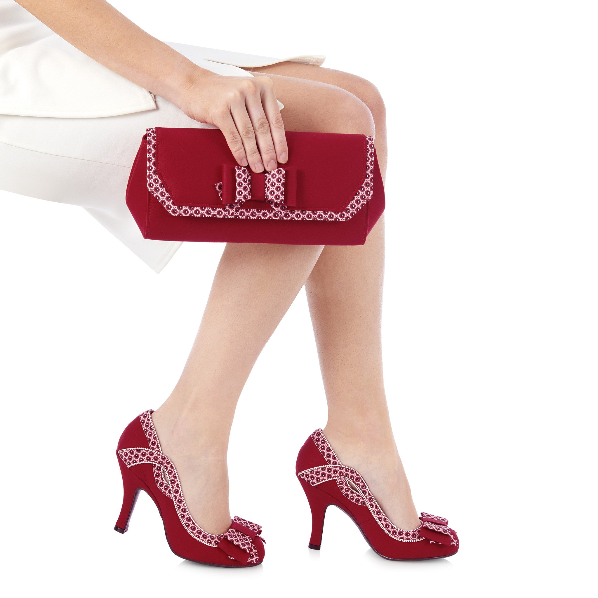 Ruby Shoo Brighton (Red/White)