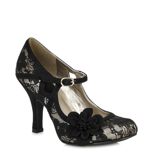 Ruby Shoo Elsy (Black Lace)