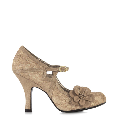 Ruby Shoo Elsy (Gold Lace)