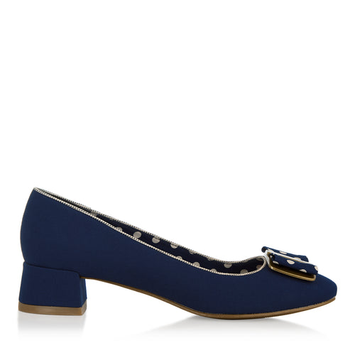 Ruby Shoo June Low Heel (Navy)