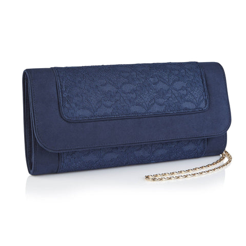 Black Metallic Clutch Bag
