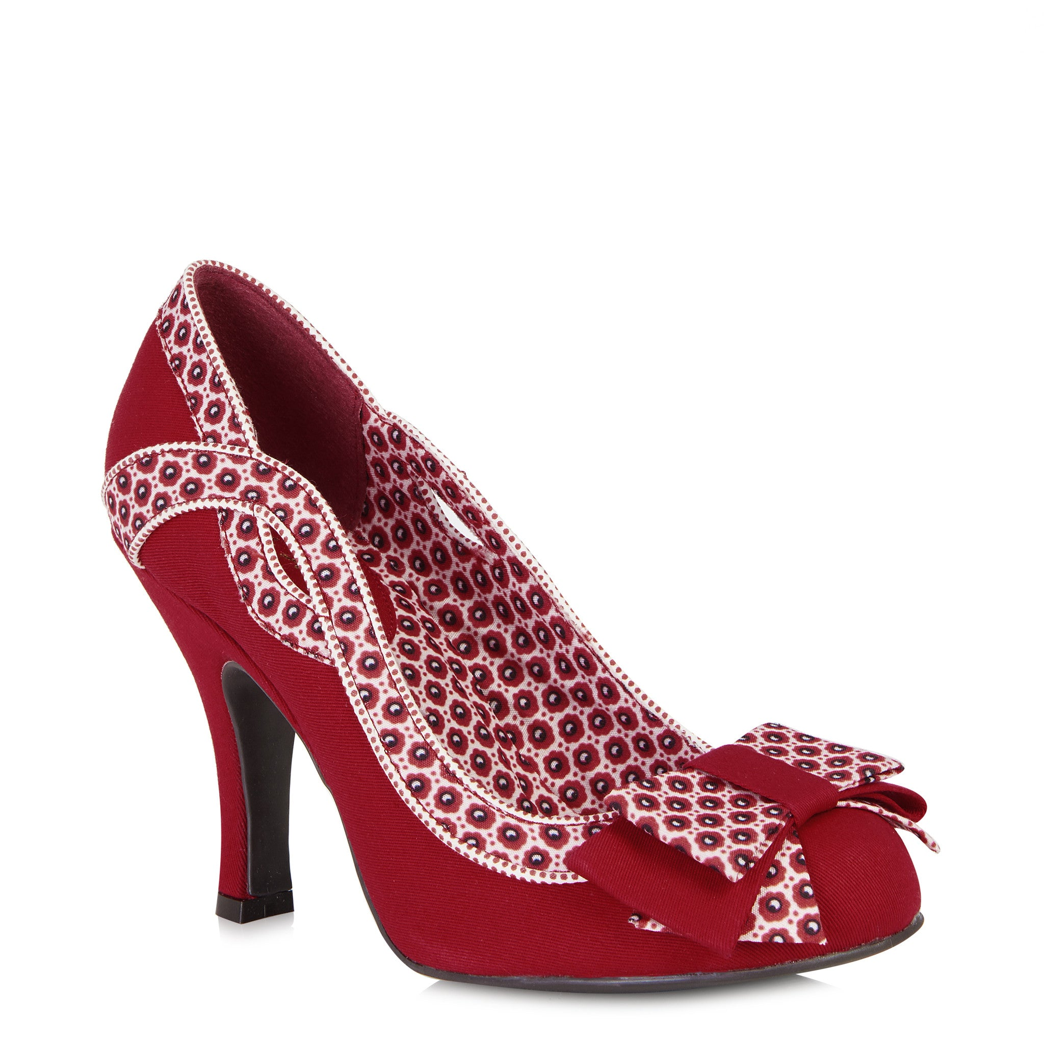 Ruby Shoo Ivy (Red/White)