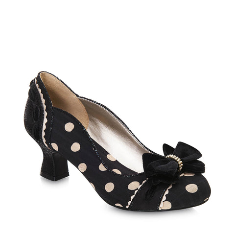 Belle Kitten Heel Pump - Blue