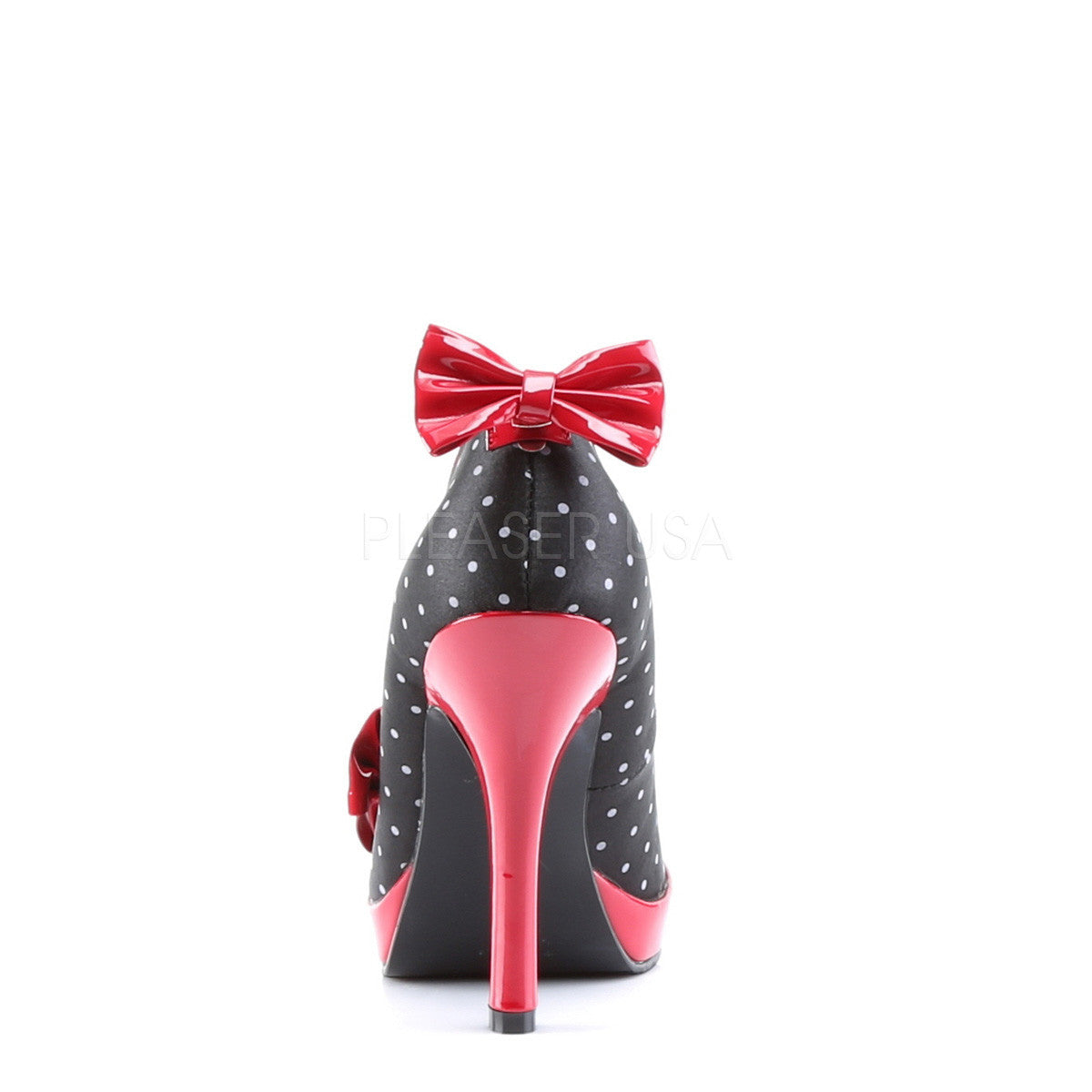 Secret Satin 50's style Shoe with Polka Dot detail