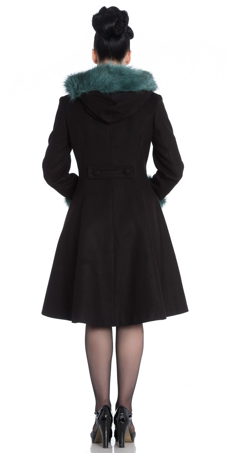 Sherwood Coat - Black/Teal