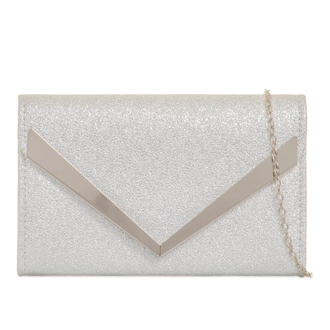 Ruth Sparkle Clutch Bag - Silver