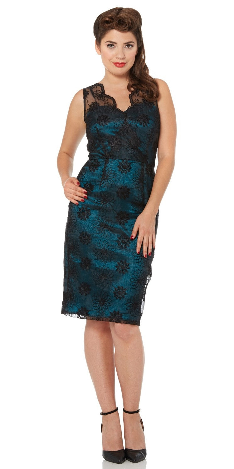 Simone Blue Wiggle Dress