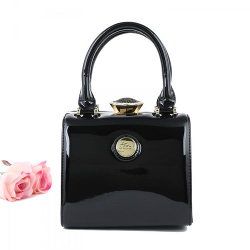 Black Patent Handbag Small
