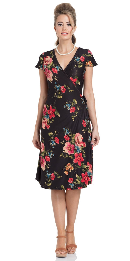 Sophia Floral Wrap Dress