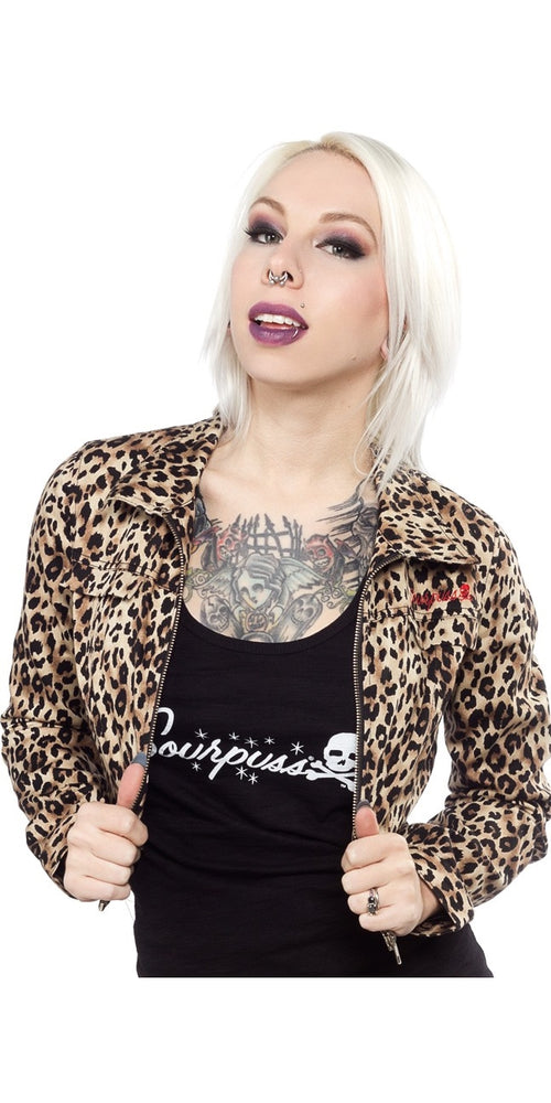 Leopard Print Crop Jacket