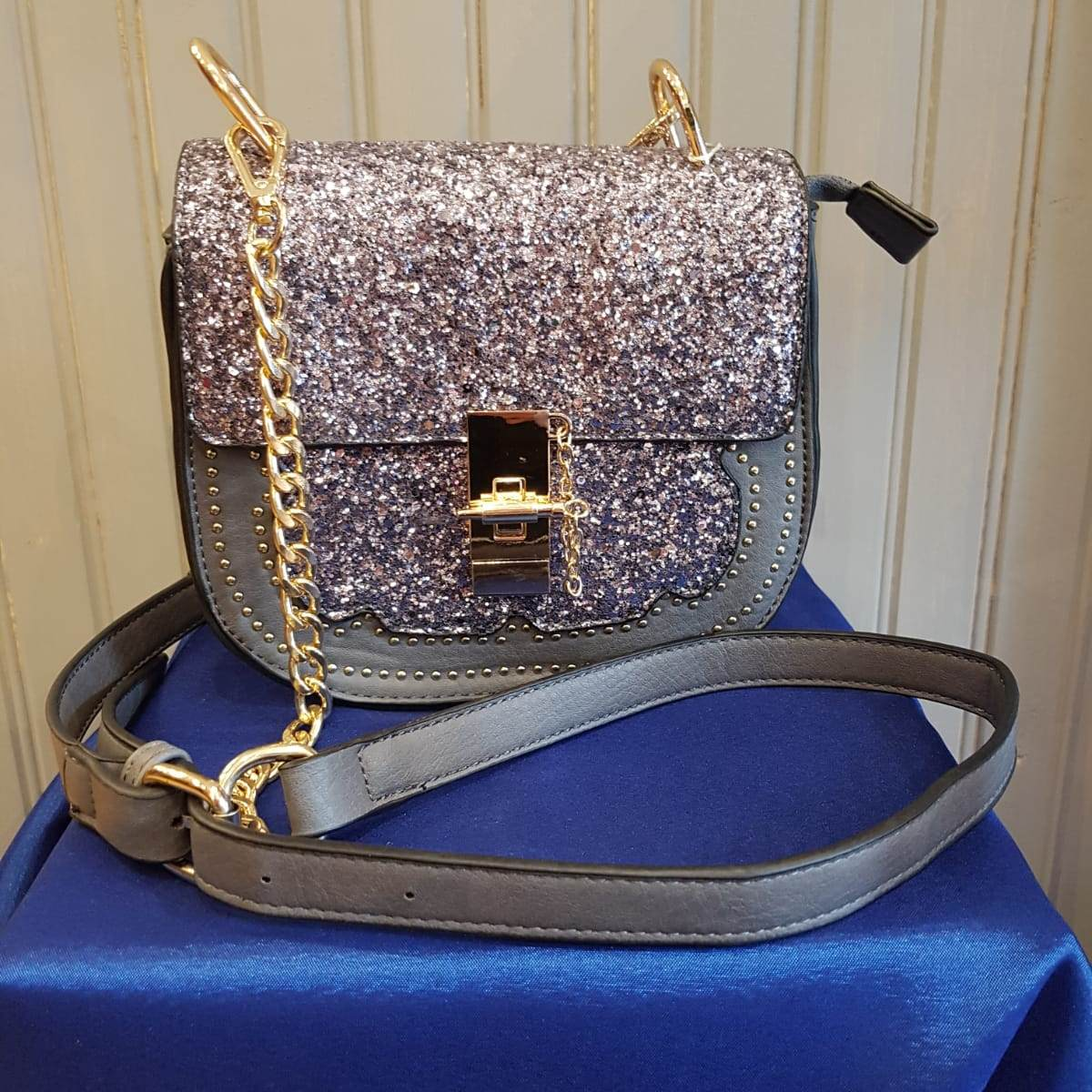 Sparkle Saddle Bag - Grey