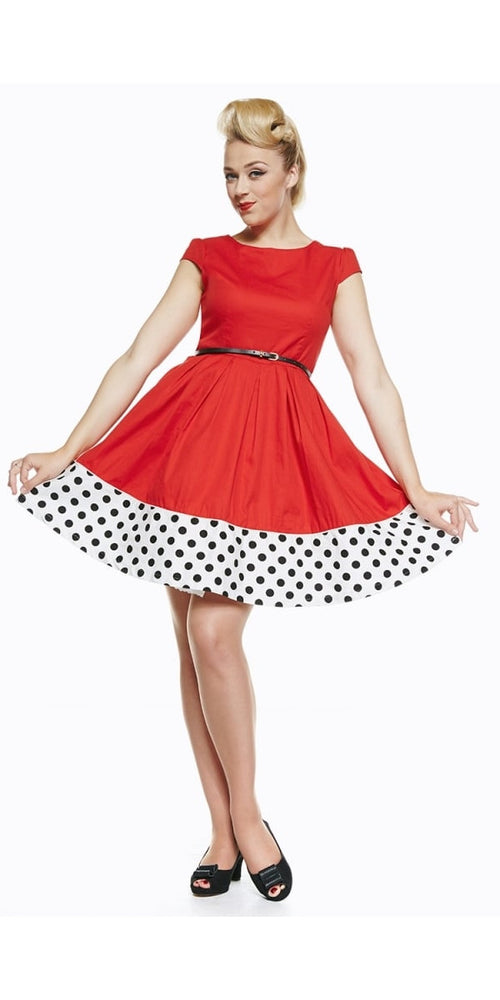 Tessie Red Rockabilly/Retro Swing Party Dress