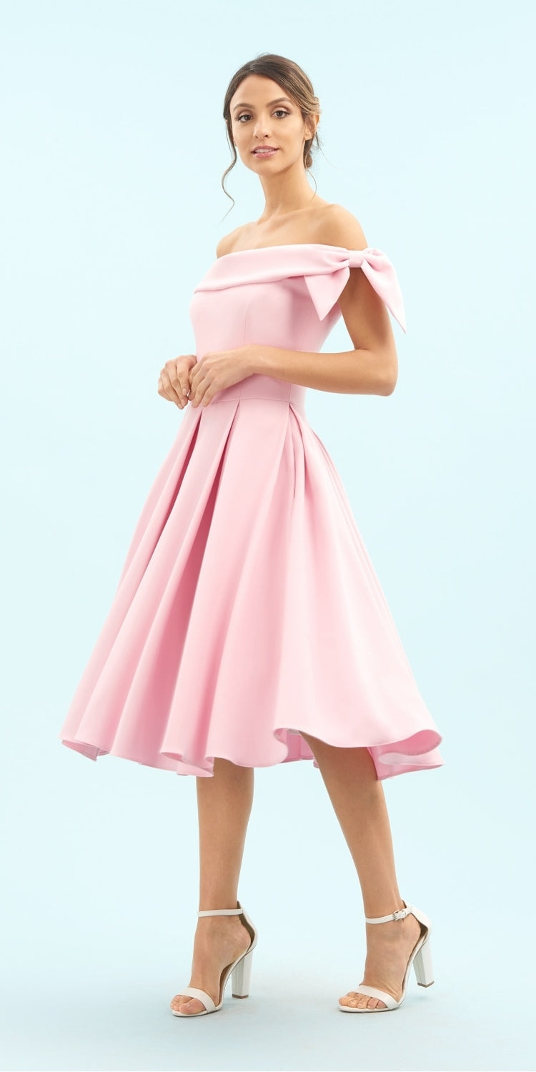 Tilly Off The Shoulder Bow Detail Dress