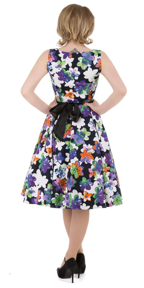 Tropical Floral Vintage Swing Dress