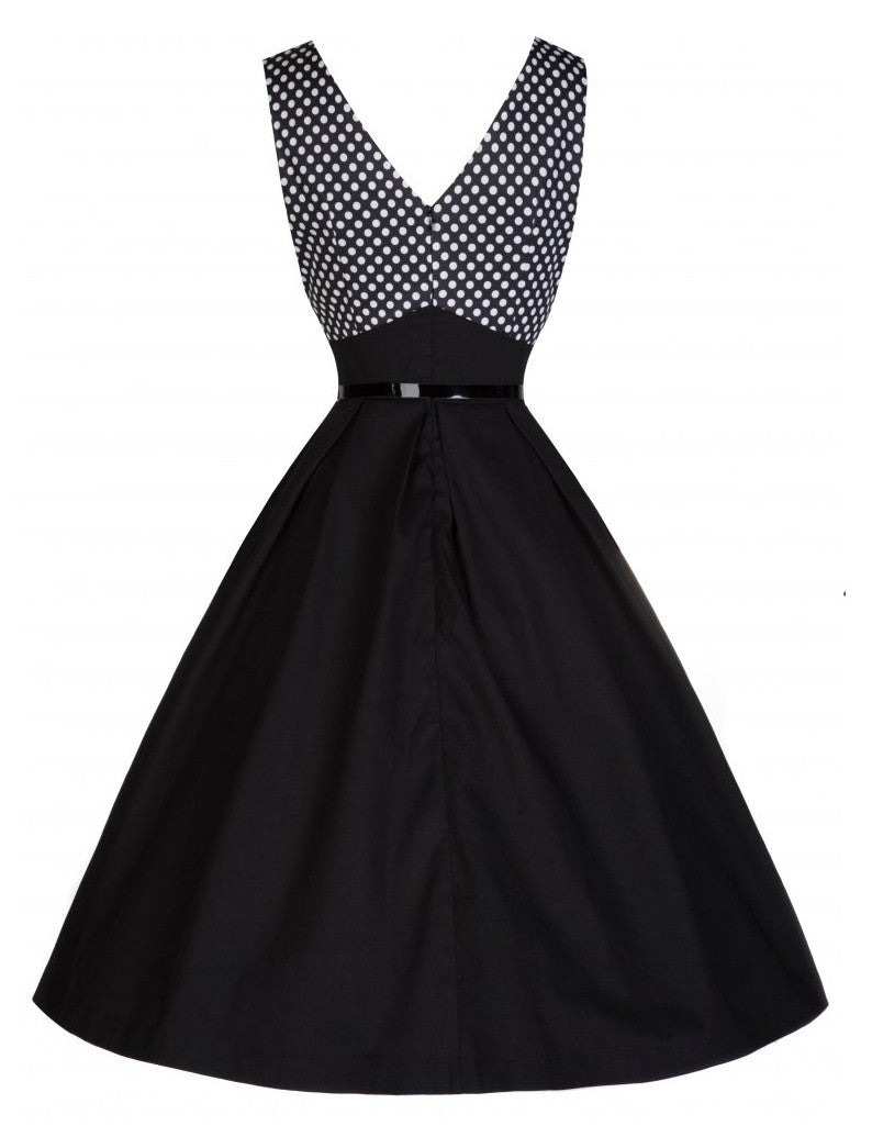 Valerie Cross-Over Bust 50's Swing Dress