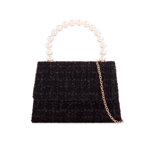 Vintage Purse - Black Sparkle Tweed
