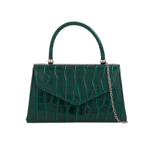 Vintage Purse Crocodile Embossed - Green