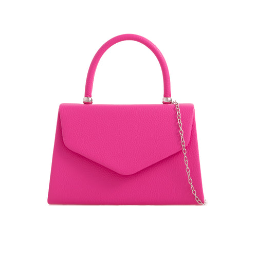 Vintage Purse Faux Leather - Fuchsia Pink