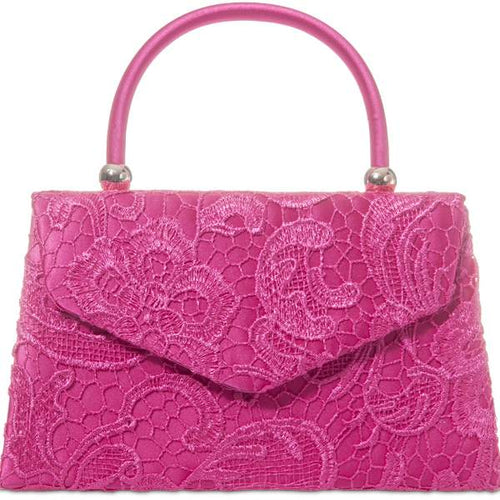 Vintage Purse - Fuchsia Lace