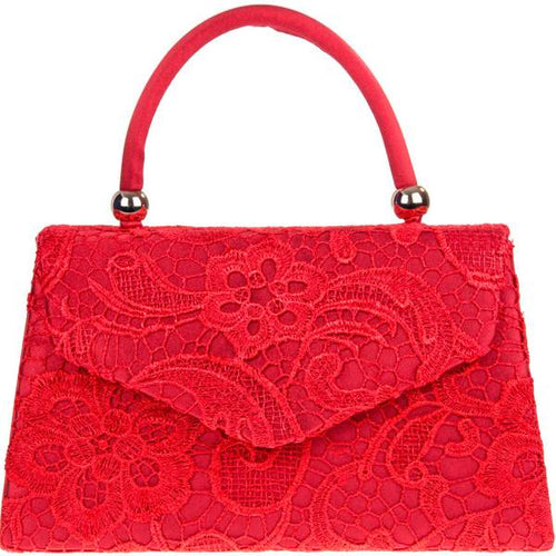 Vintage Purse - Red Lace