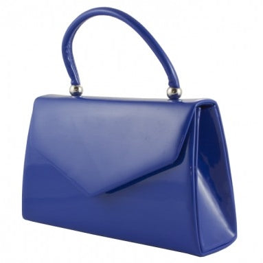 Vintage Purse - Royal Blue Patent