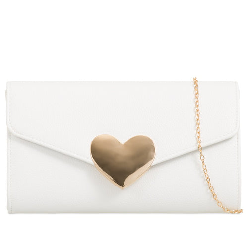 Isabelle Evening Clutch Bag - White