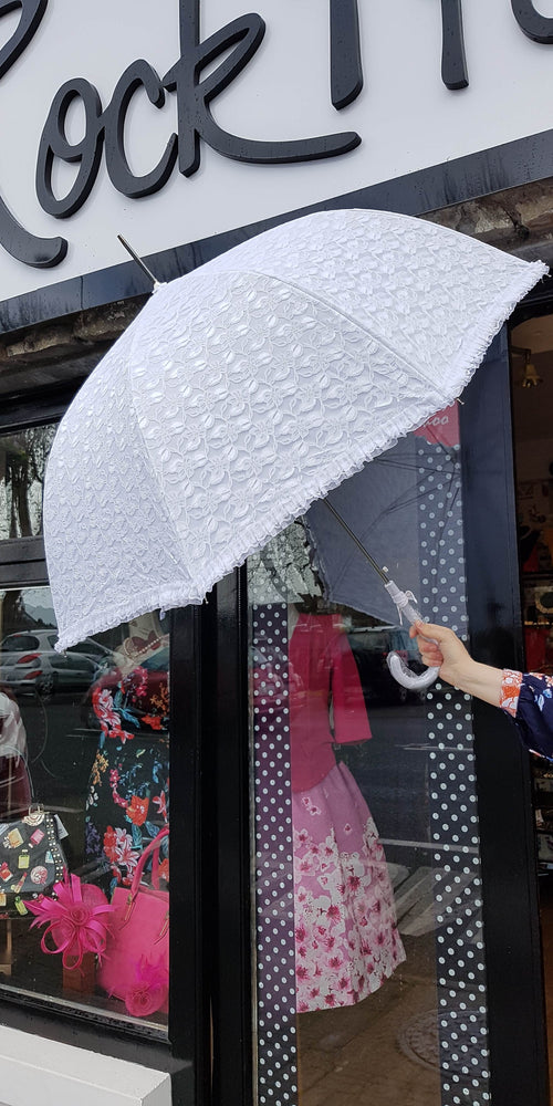 White Lace Umbrella