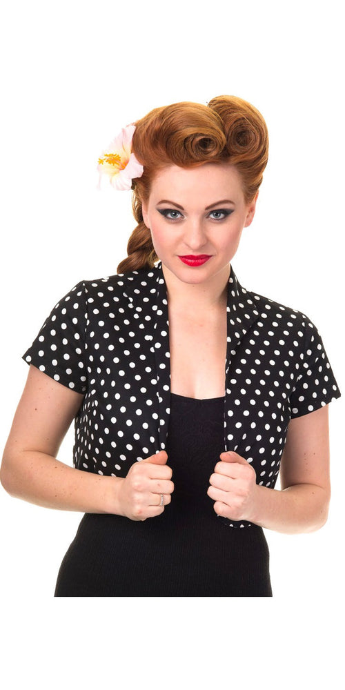 Polka Dot Bolero - Black and White