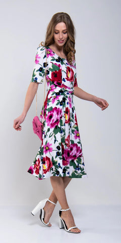 Primavera Chiffon Floral Dress