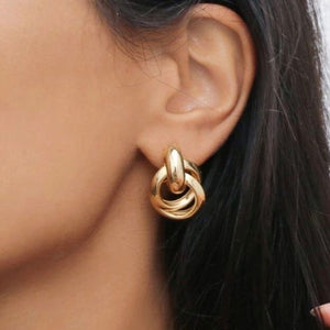 Small Golden Loop - Earrings