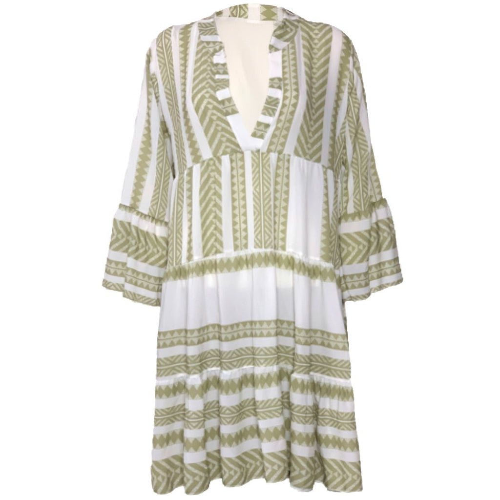 Aztec Green - Dress