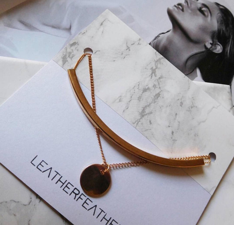 BOW necklace - LeatherFeather