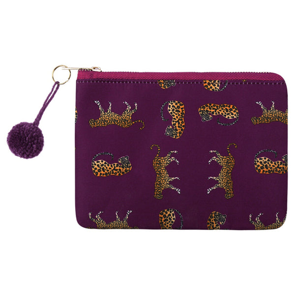 Wild Leopard Make-up Bag - LeatherFeather