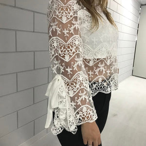 LACE FLAIR top - LeatherFeather